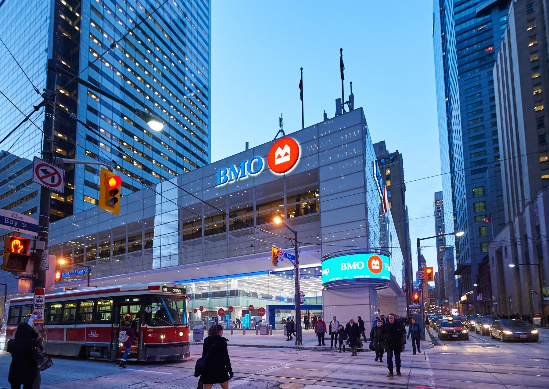 BMO exterior, downtown Toronto