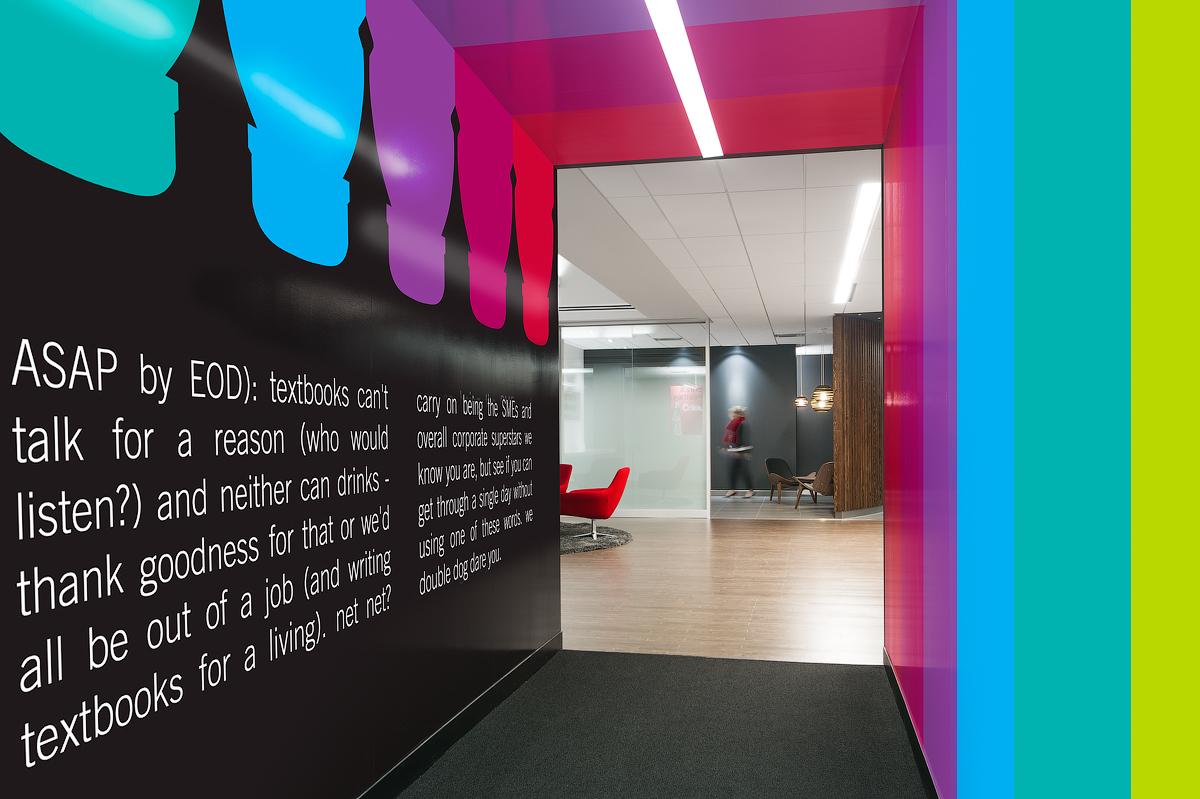 Coca Cola portal with black walls and colourful Coca Cola graphics and text