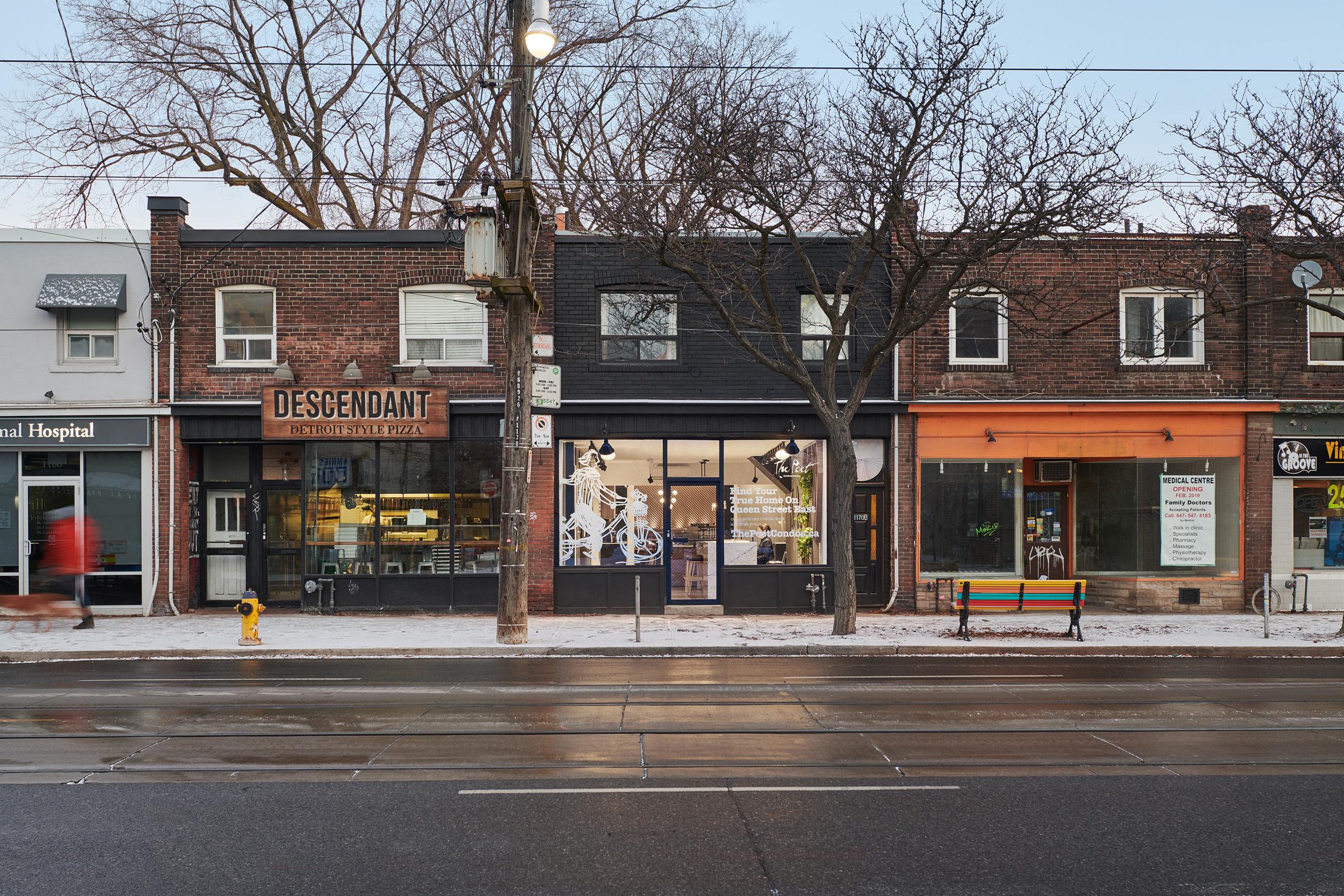The Poet exterior Leslieville Toronto