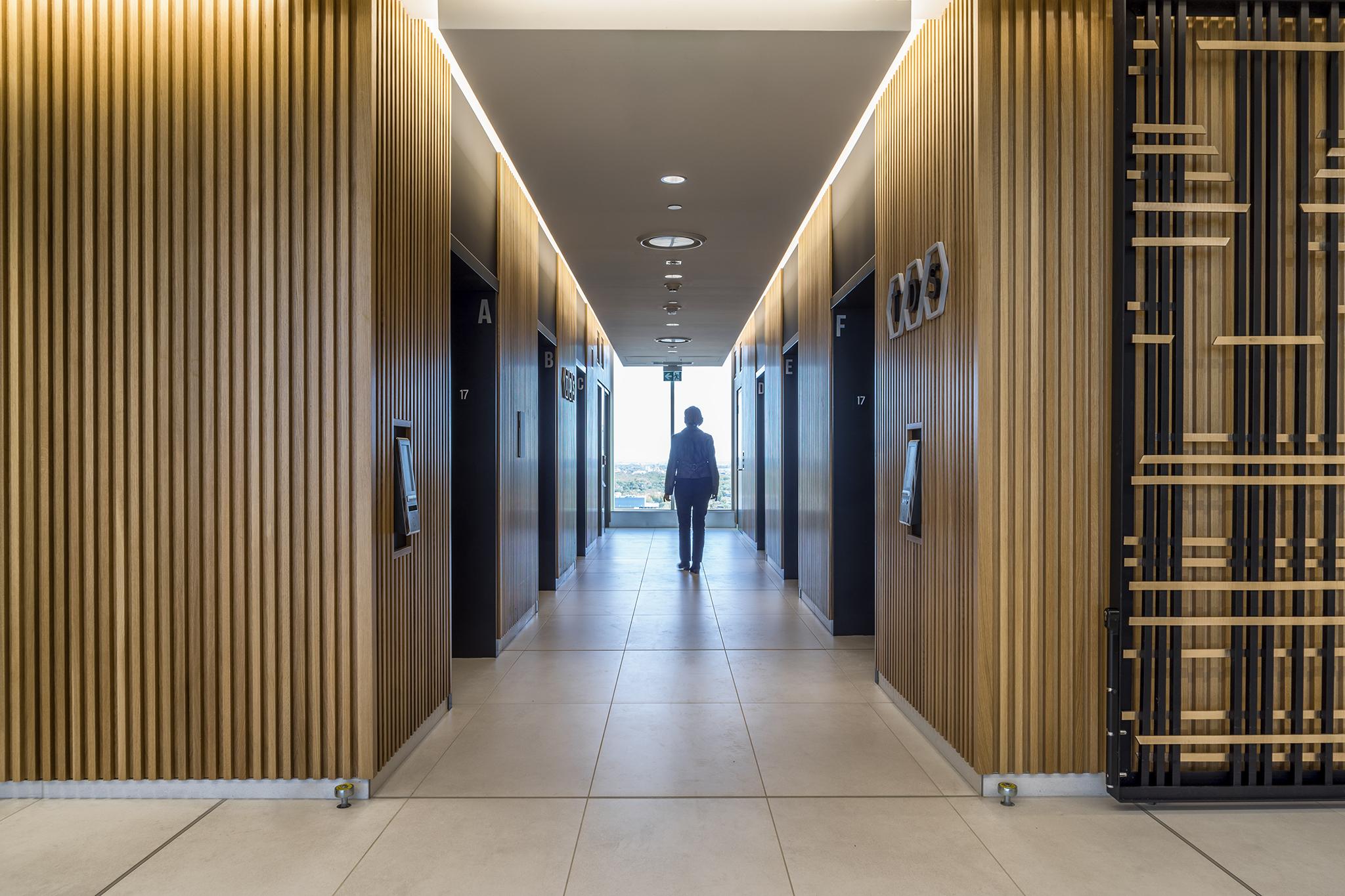 TDS elevator lobby
